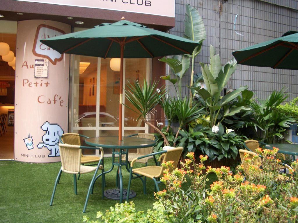 咖啡店人工草景觀