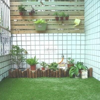 陽台人工草裝飾