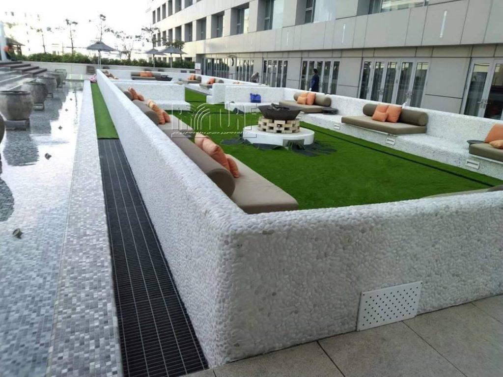 台南晶英酒店人工草景觀