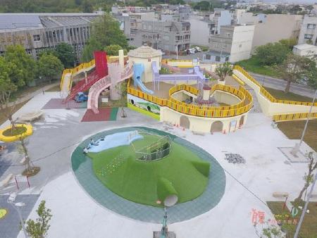 馬卡龍色農村公園